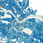 Urban zones of Dresden